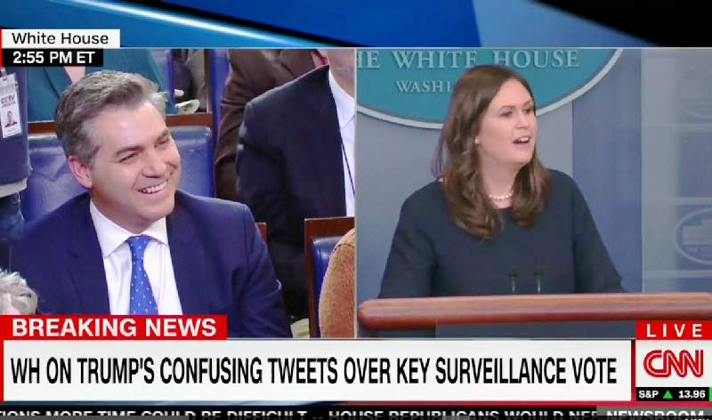Sarah Sanders Roasts CNN's Jim Acosta: 'Your Numbers Would Be Higher