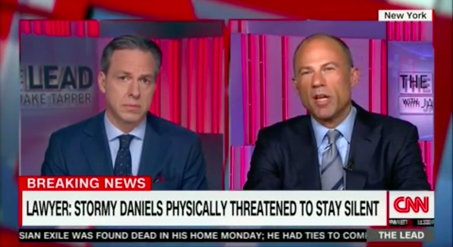 Image result for photo of stormy daniels with jake tapper