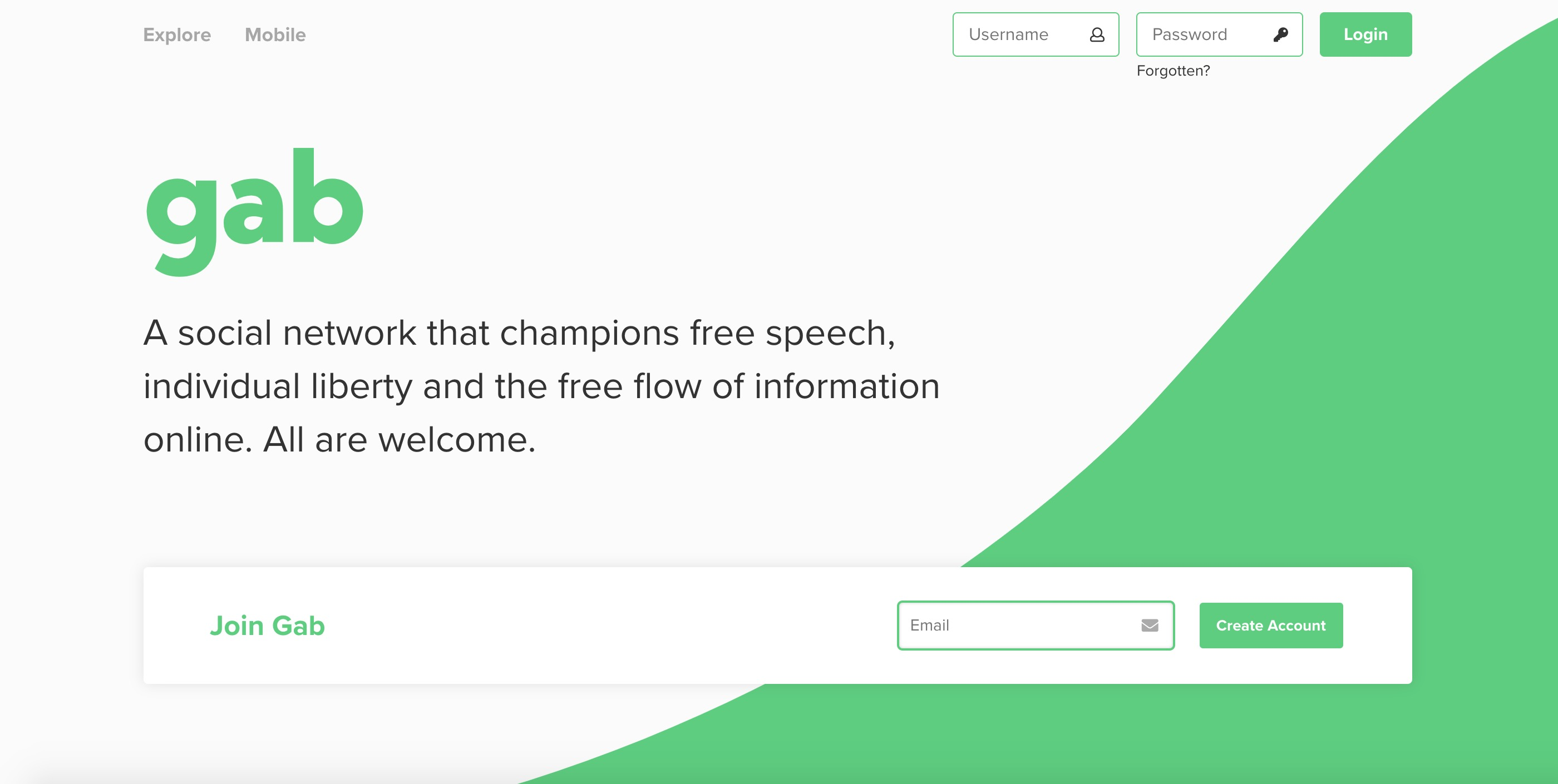 Gab social network temporarily shuts down after GoDaddy pulls support