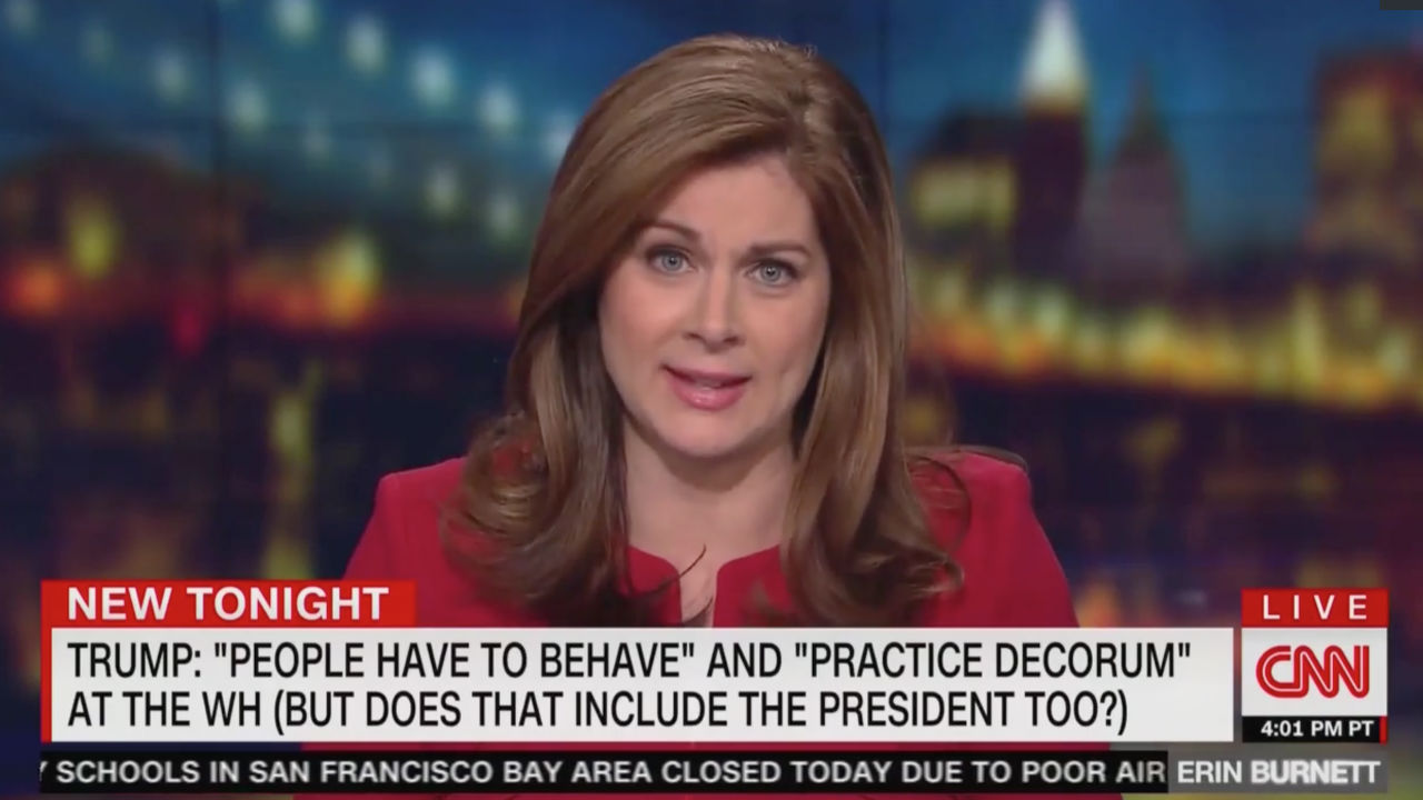 CNN's Erin Burnett: Trump Scolding Reporters Isn't About 'Decorum,' It's About 'Controlling the Press'