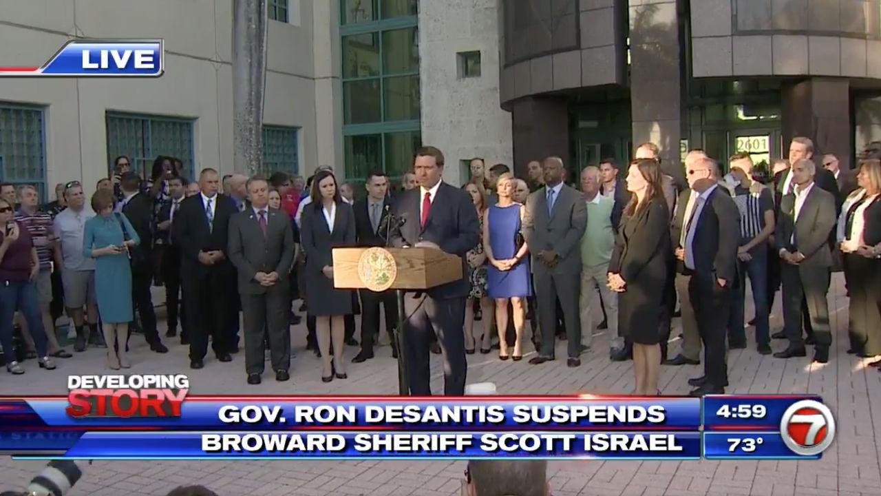 FL Gov  Ron DeSantis Suspends Broward County Sheriff Scott