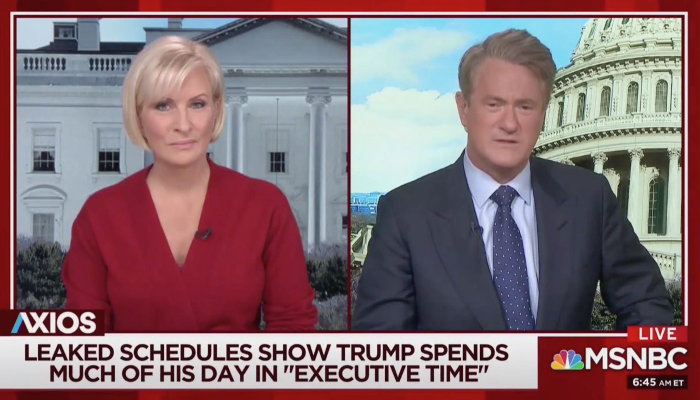 Morning Joe Ridicules Trump's Light Work Schedule; White House Staff 'Really Hate Their Boss!'