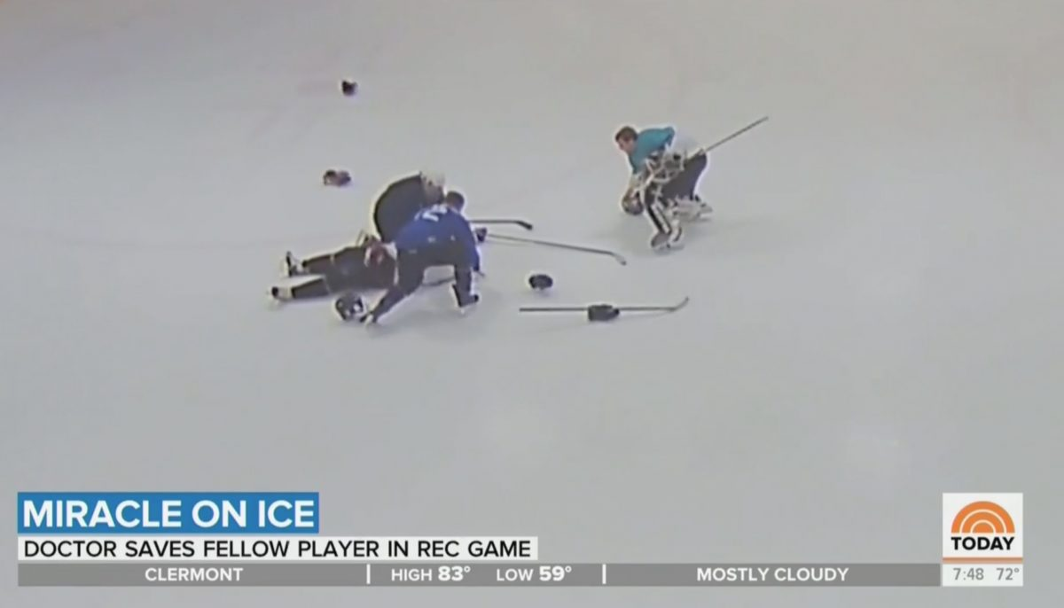 WATCH: Hockey Player Suffers Heart Attack During Game
