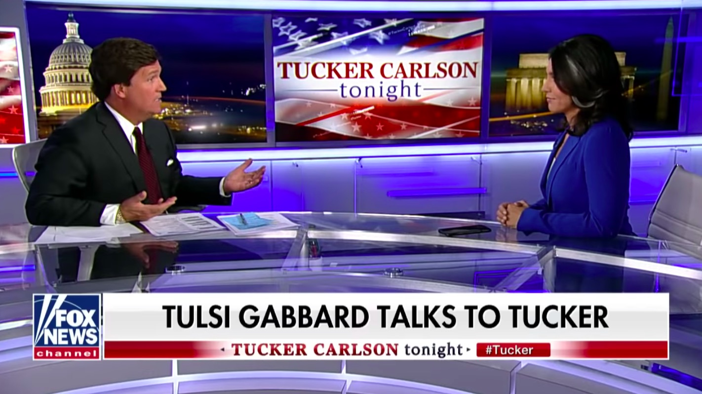 Image result for tucker carlson tulsi gabbard