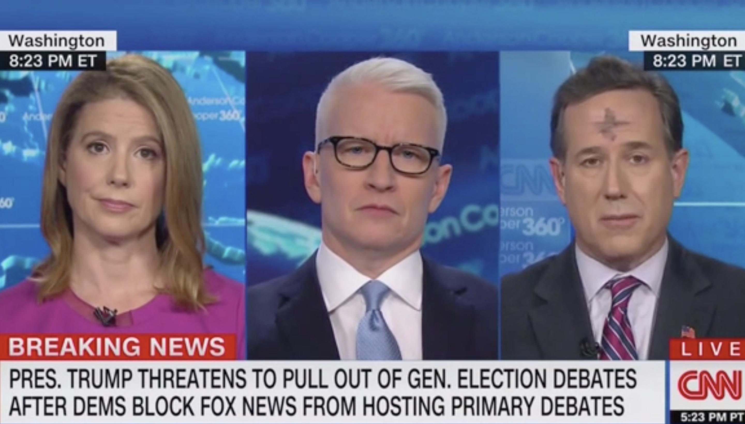 Rick Santorum Calls Out DNC For Refusing to Give Fox News a Dem Primary Debate: 'What Are They Afraid Of?'