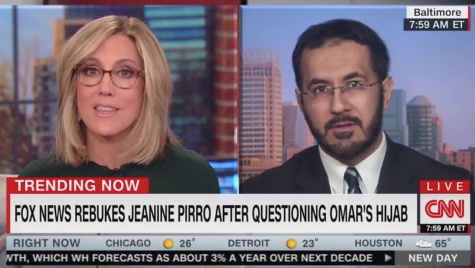 Muslim Marine to CNN: Jeanine Pirro 'Should Be Fired' For Omar, Hijab Comments