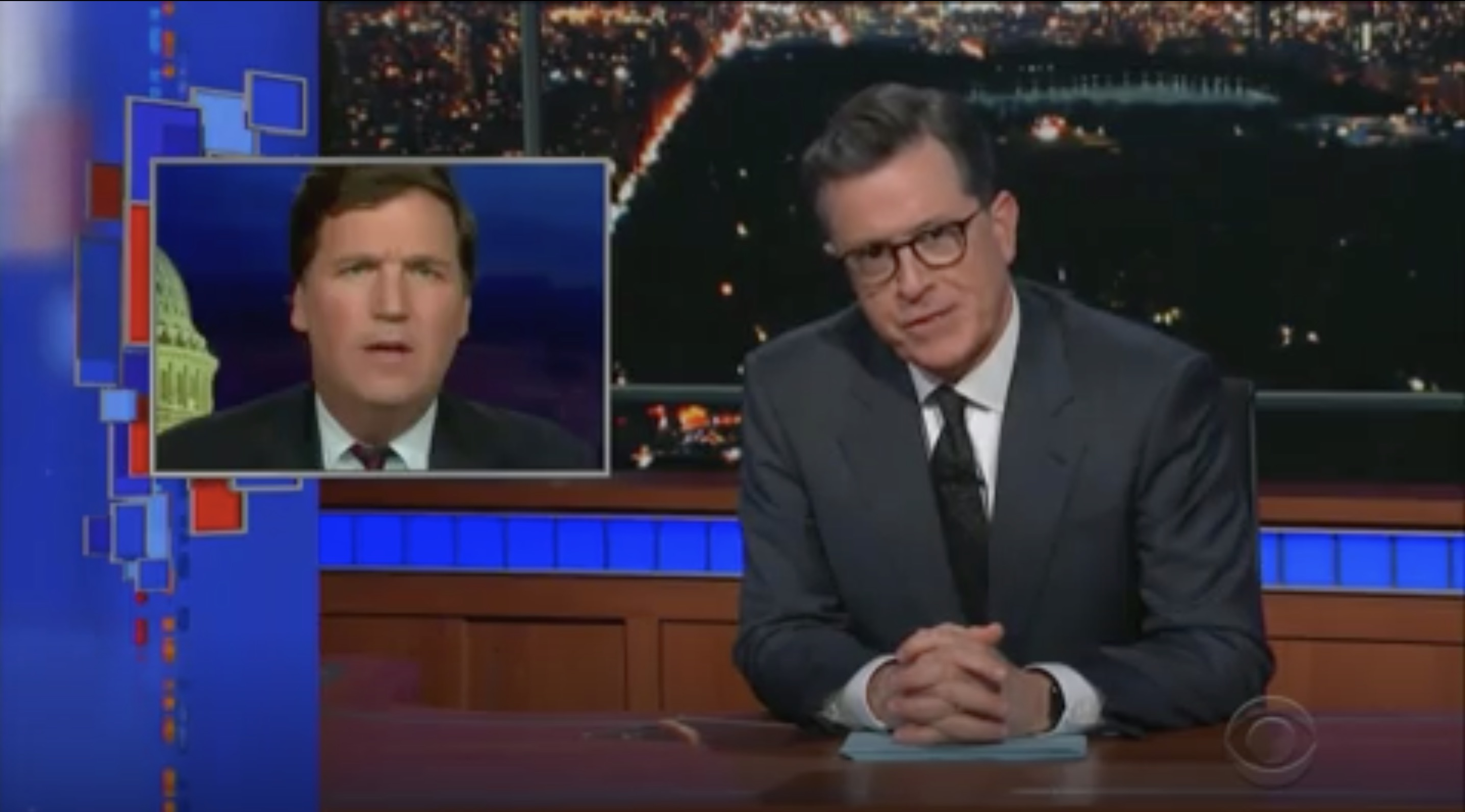 Colbert to Tucker Carlson: 'Please Don't Reproduce'