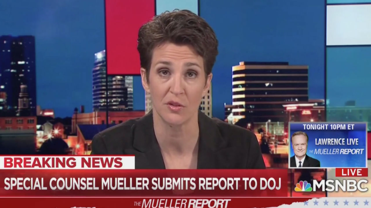Rachel Maddow Laughs at Reports Saying She Cried on Air Covering Mueller News: 'LOL'