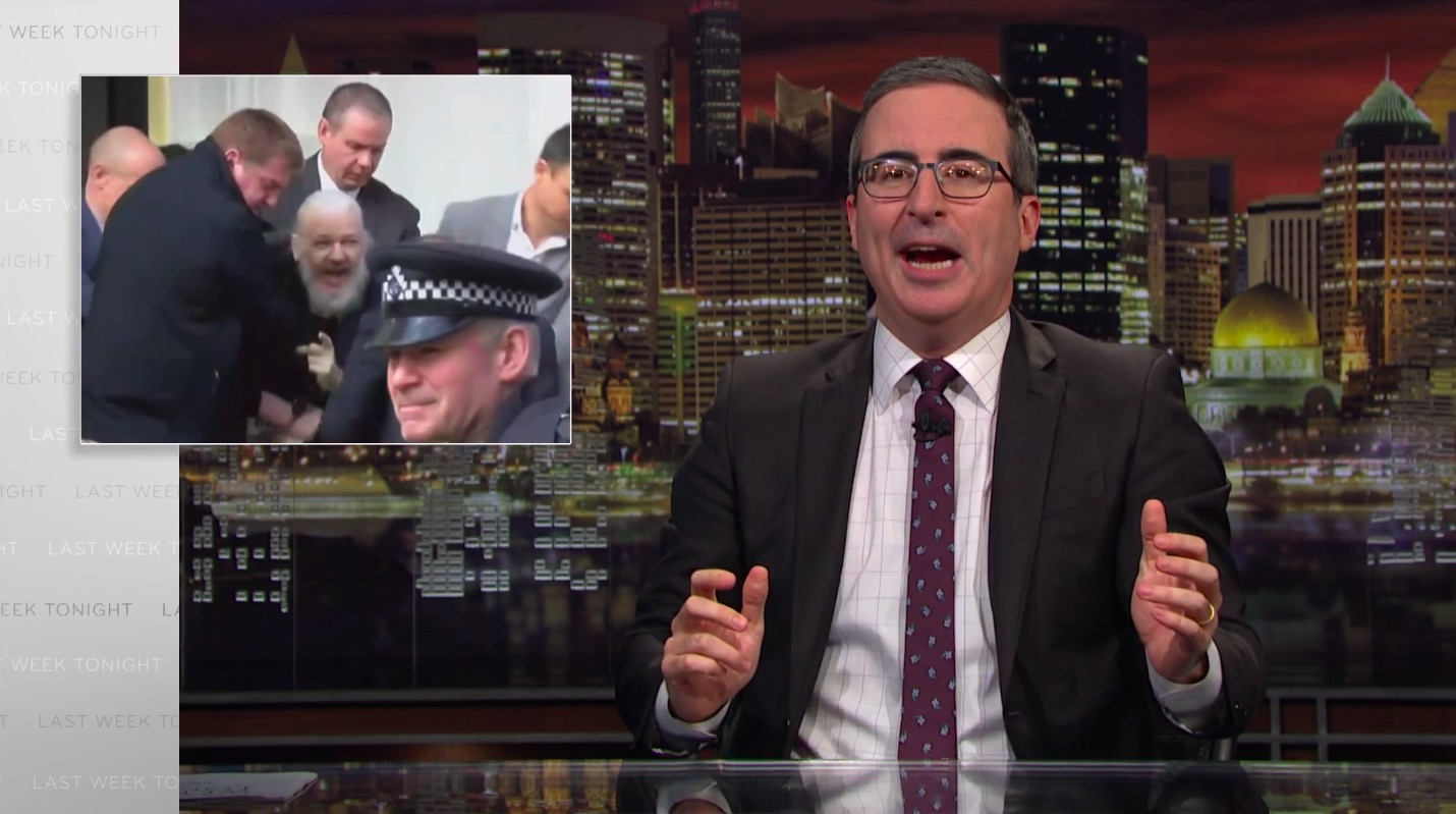 John Oliver Defends Assange: This Story is 'Worrying For a Number of Reasons'