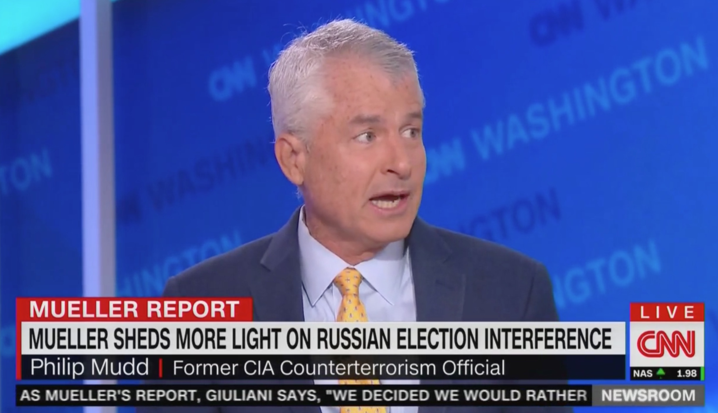 CNN's Phil Mudd: Since 'Mueller Says Nobody Broke the Law,' Putin Will Say 'Let's Do It Again'
