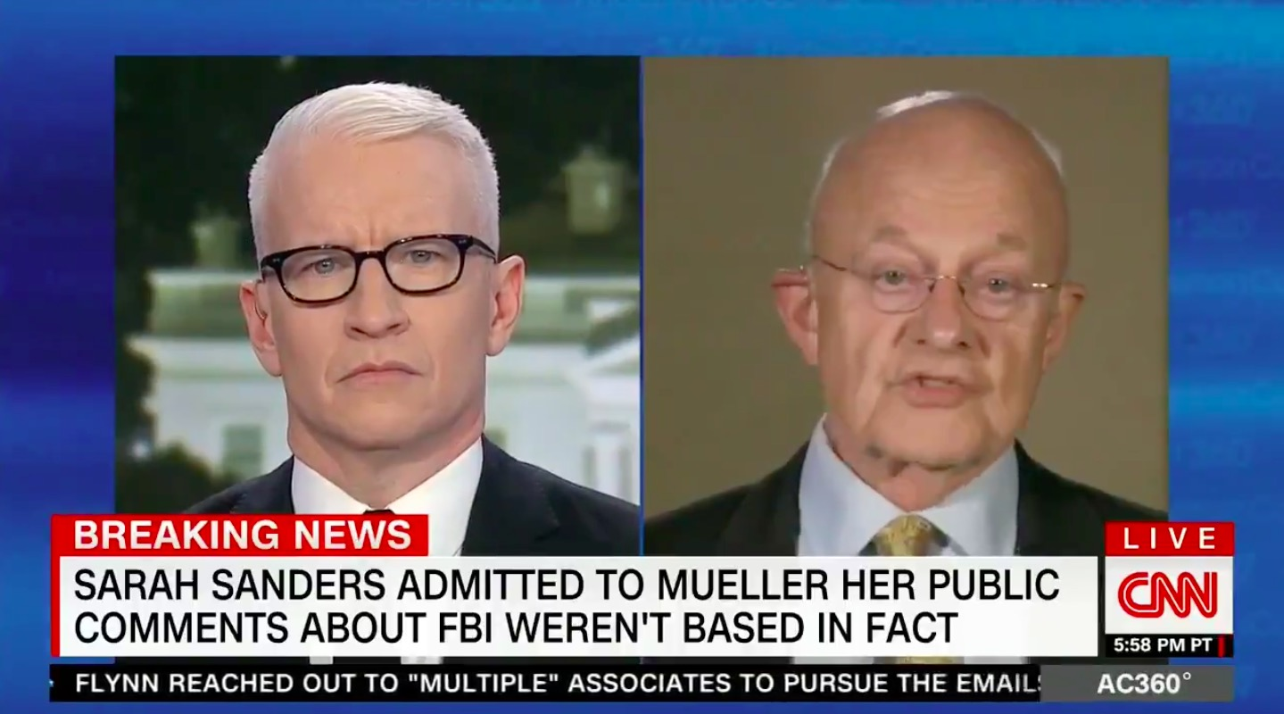 James Clapper On Mueller Report: 'What We Have Here Is a Case Of Passive Collusion'