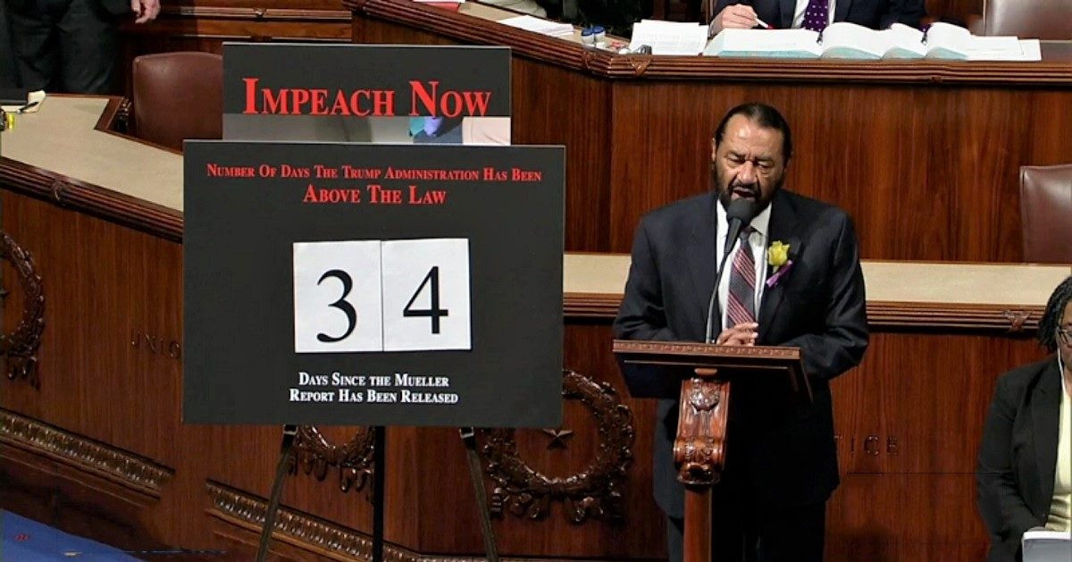 Dem Al Green Welcomes Justin Amash to the Impeach Trump Club: 'You Won't Be the Last'