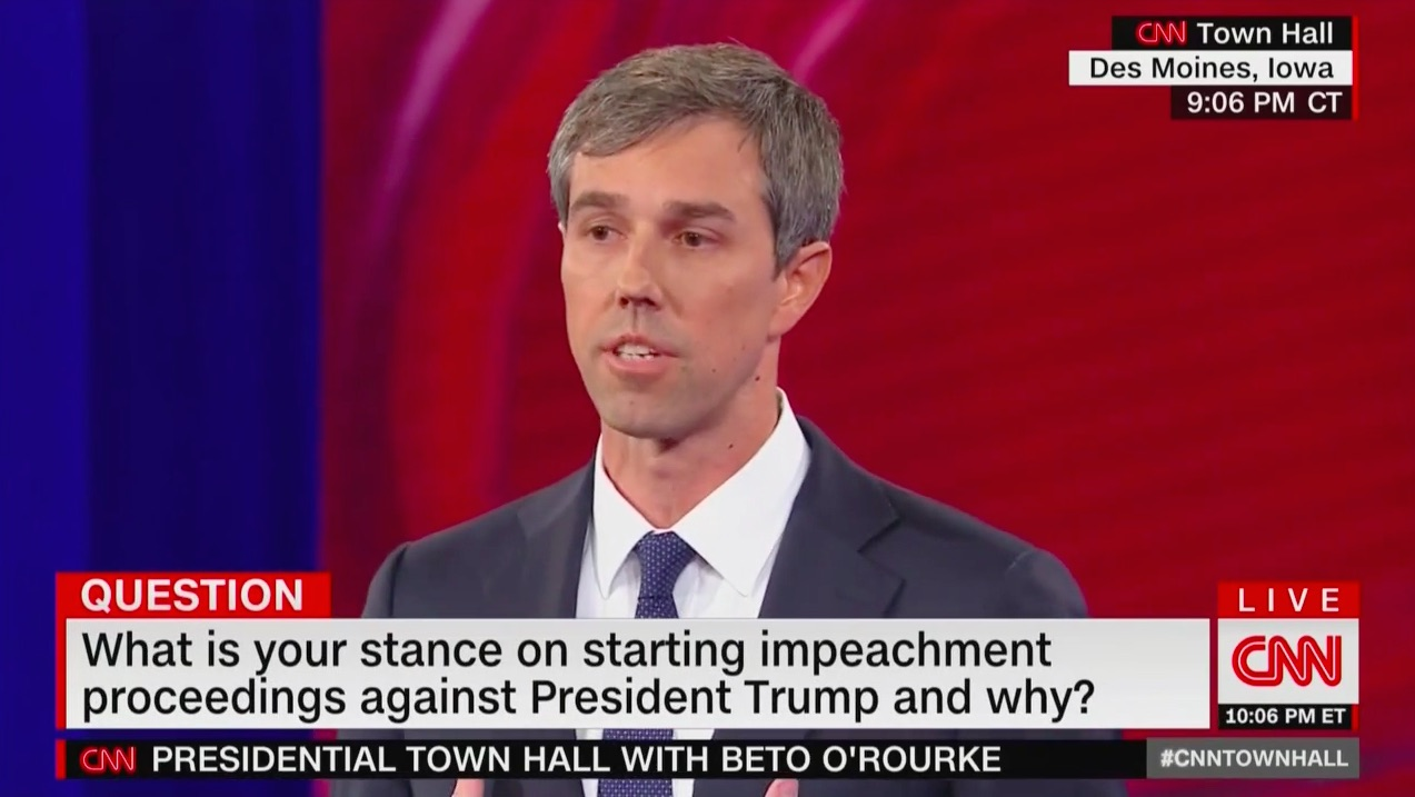 Beto O'Rourke: Congress Should Begin Impeachment Proceedings, Trump Can't Be 'Above the Law'