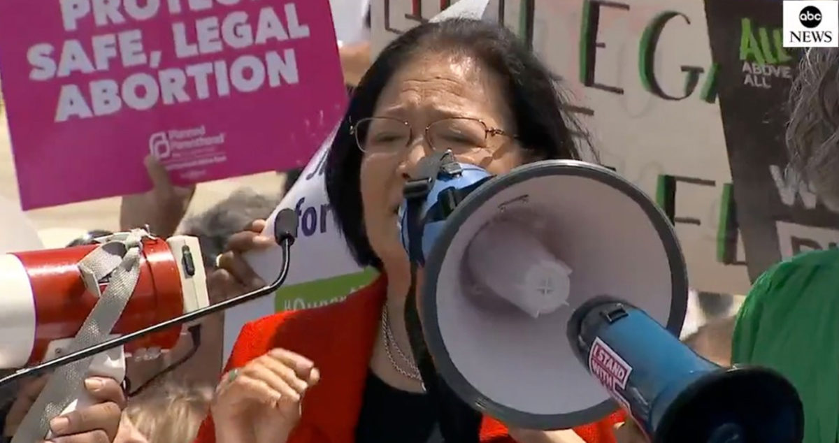 Sen. Mazie Hirono Says She Told 8th Graders Their Abortion Rights are Under Attack at Supreme Court Protest