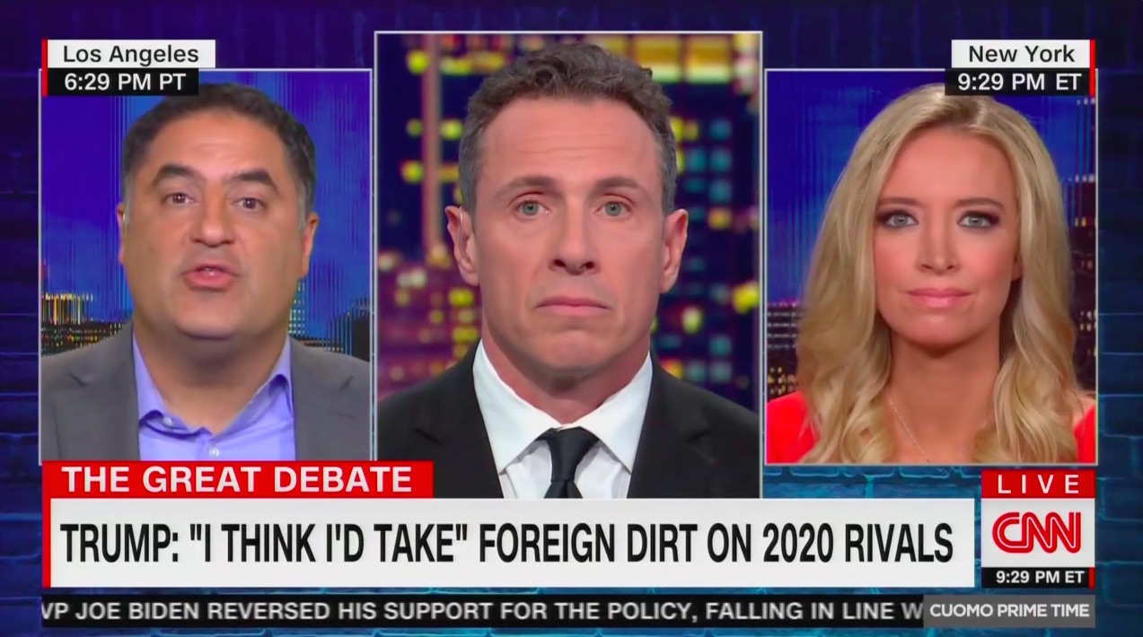 Cenk Uygur Mocks Kayleigh McEnany's What-Aboutism on Trump's Foreign Dirt Comments: 'Squirrel!'
