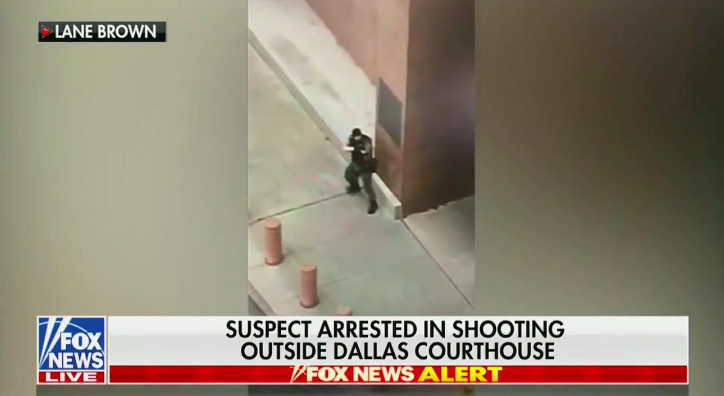 Watch: Gunman Fires Shots Outside Dallas Courthouse