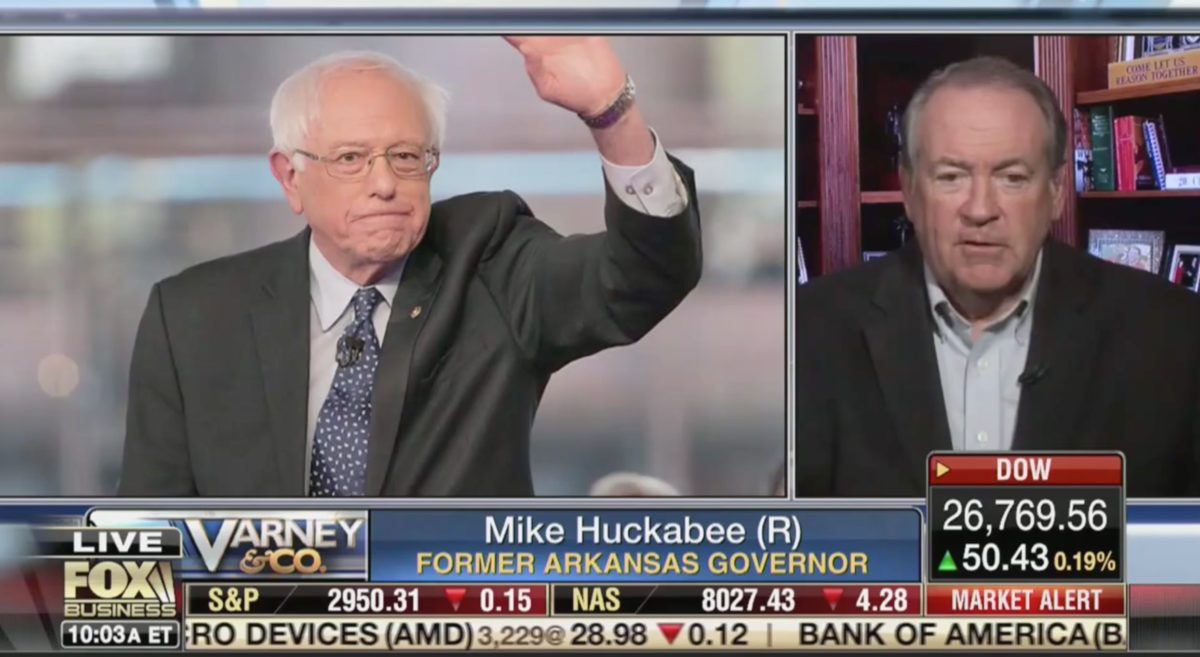 Mike Huckabee on Fox Business: Bernie Sanders Supporters Are 'Darn Stupid' With I.Q.s in the 'Single Digits'