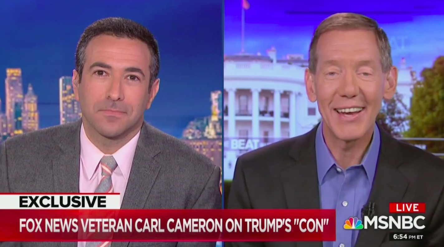 Ex-Fox News Reporter Carl Cameron Appears on MSNBC, Rips Fox's 'Entertainment Division' as 'Not Fact-Based'