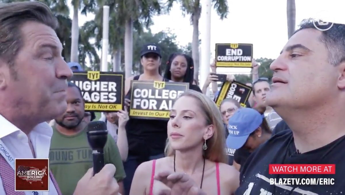 TYT Hosts and Eric Bolling Hold Fiery Debate Outside Dem Showdown: 'I Am Calling You a Liar, and You Know' It