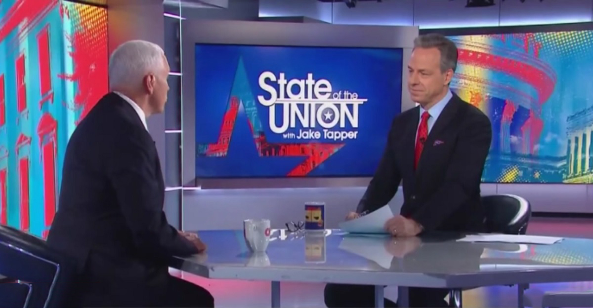 Jake Tapper Laughs Right in Mike Pence's Face About Climate Change: 'That's Not True'