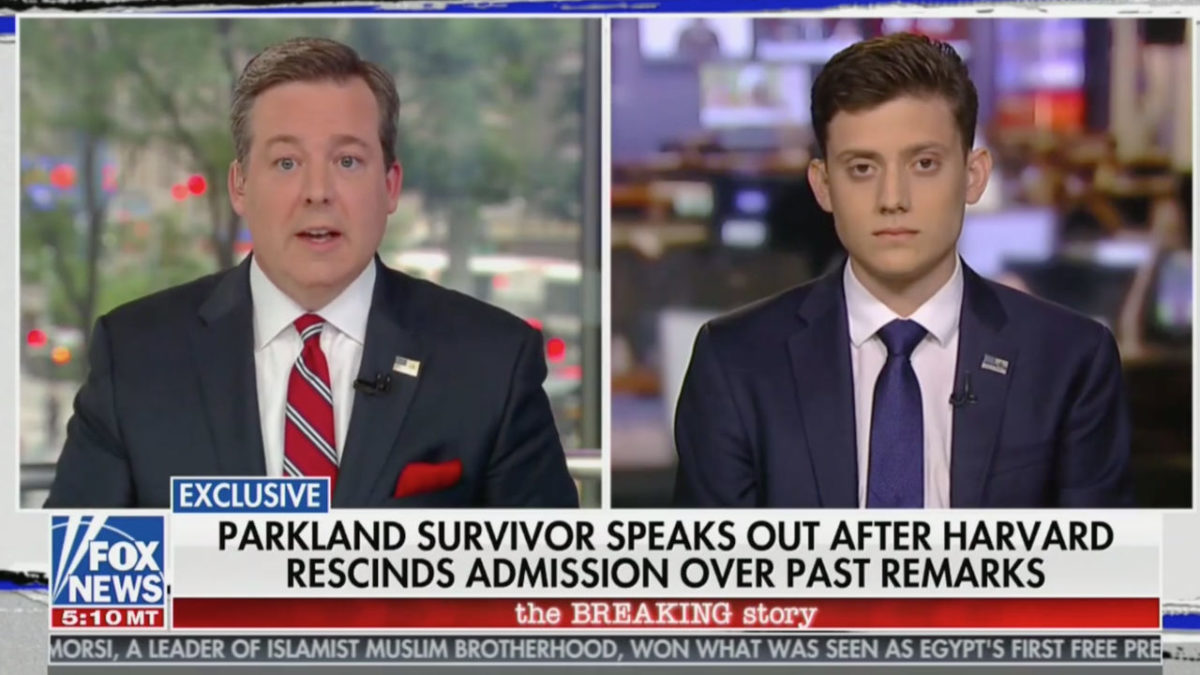 Ed Henry Questions Kyle Kashuv On Past Comments
