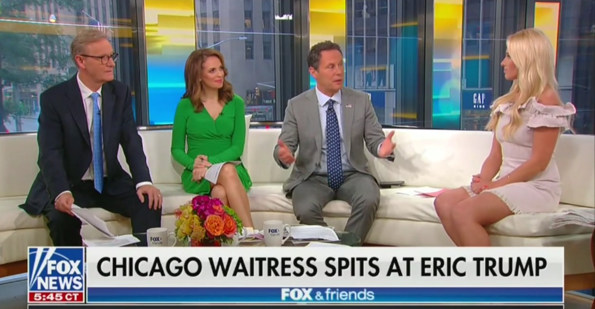 Fox News Host Says Eric Trump Being Spit On is Part of 'The Sacrifice of the Trump Family'