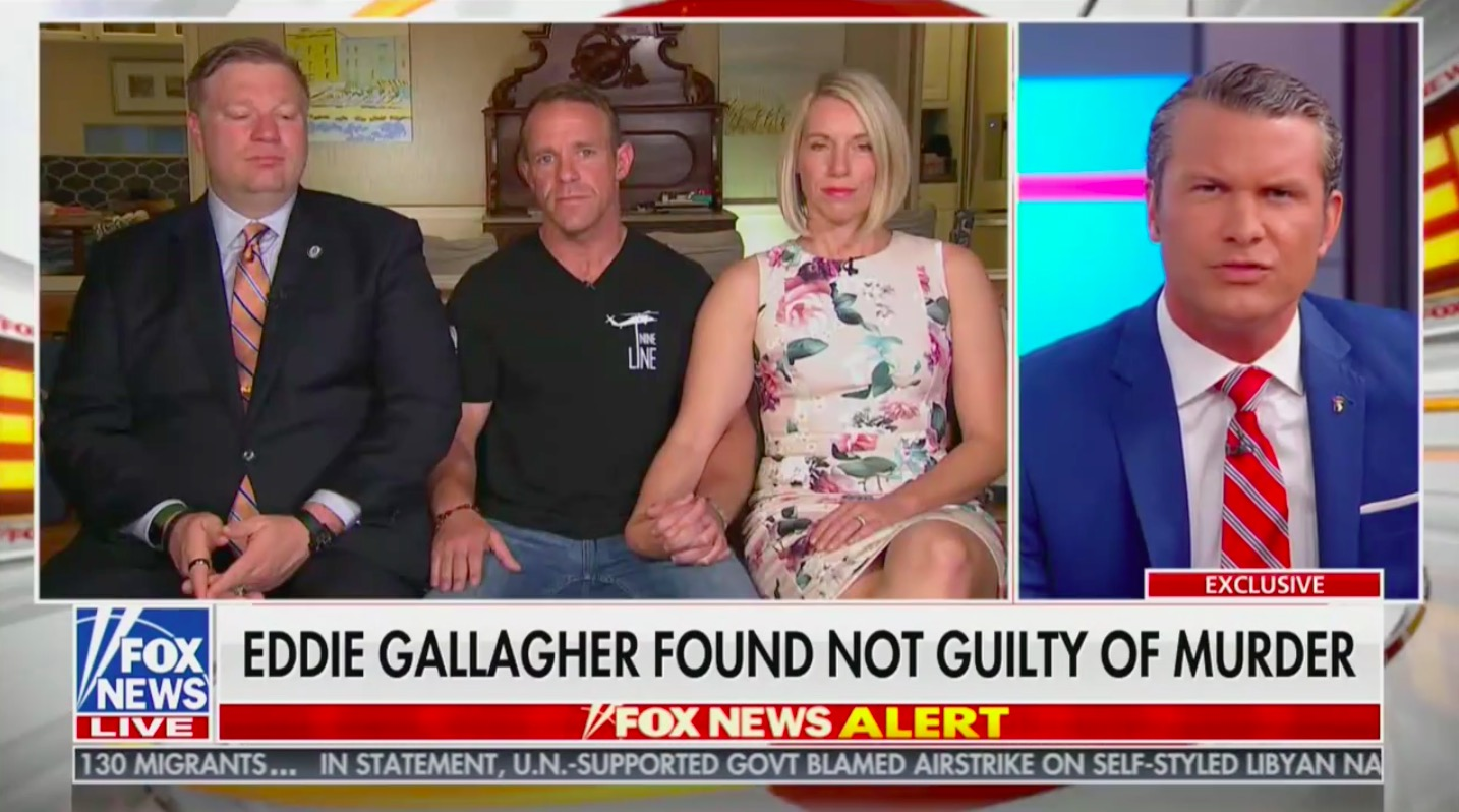Eddie Gallagher Speaks Out on Fox & Friends After Acquittal: A 'Group of SEALs' Decided to 'Concoct This Story'