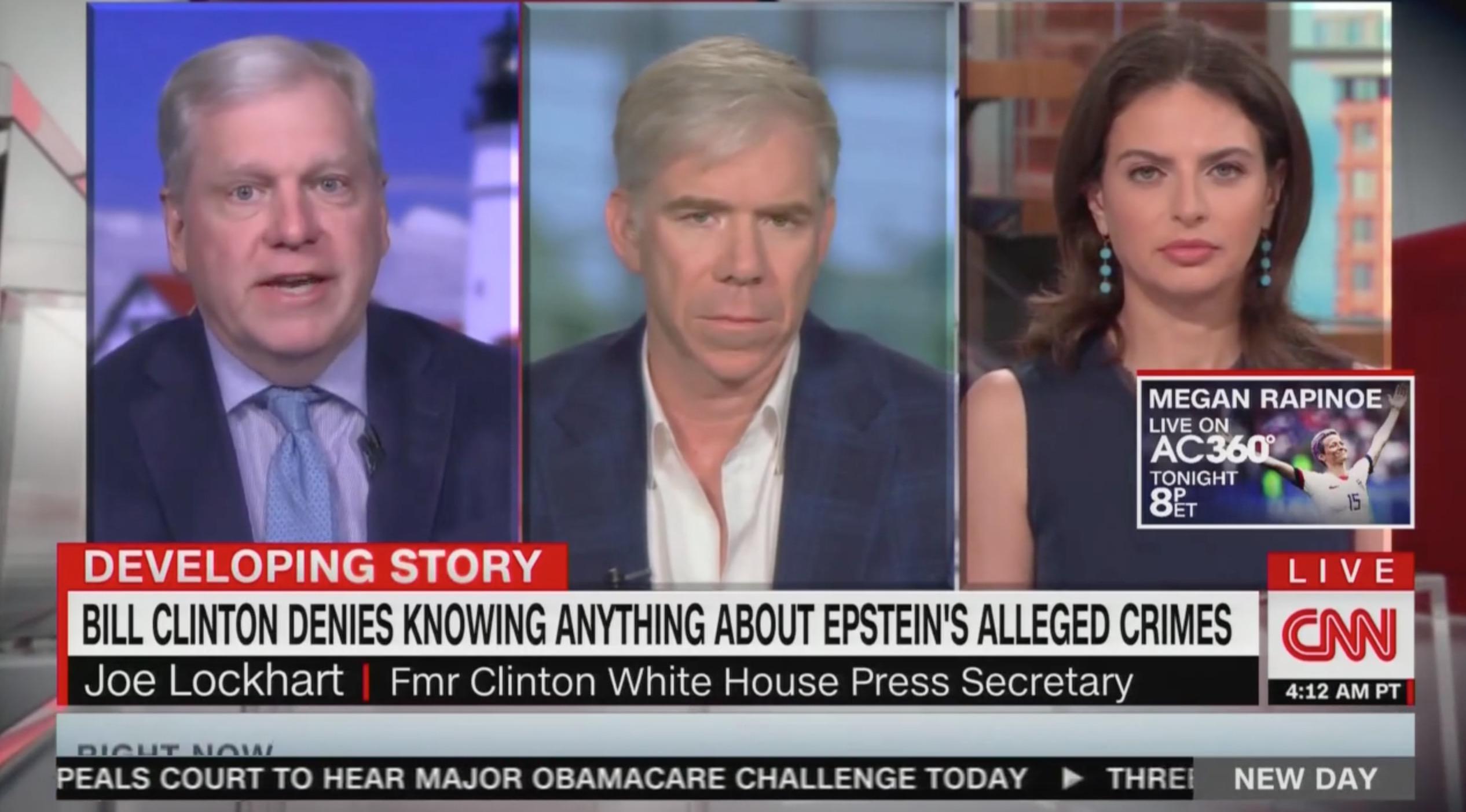 Joe Lockhart Claims Jeffrey Epstein Wasn't Part of 'the Clinton Circle' Before Pivoting to Labor Sec Acosta