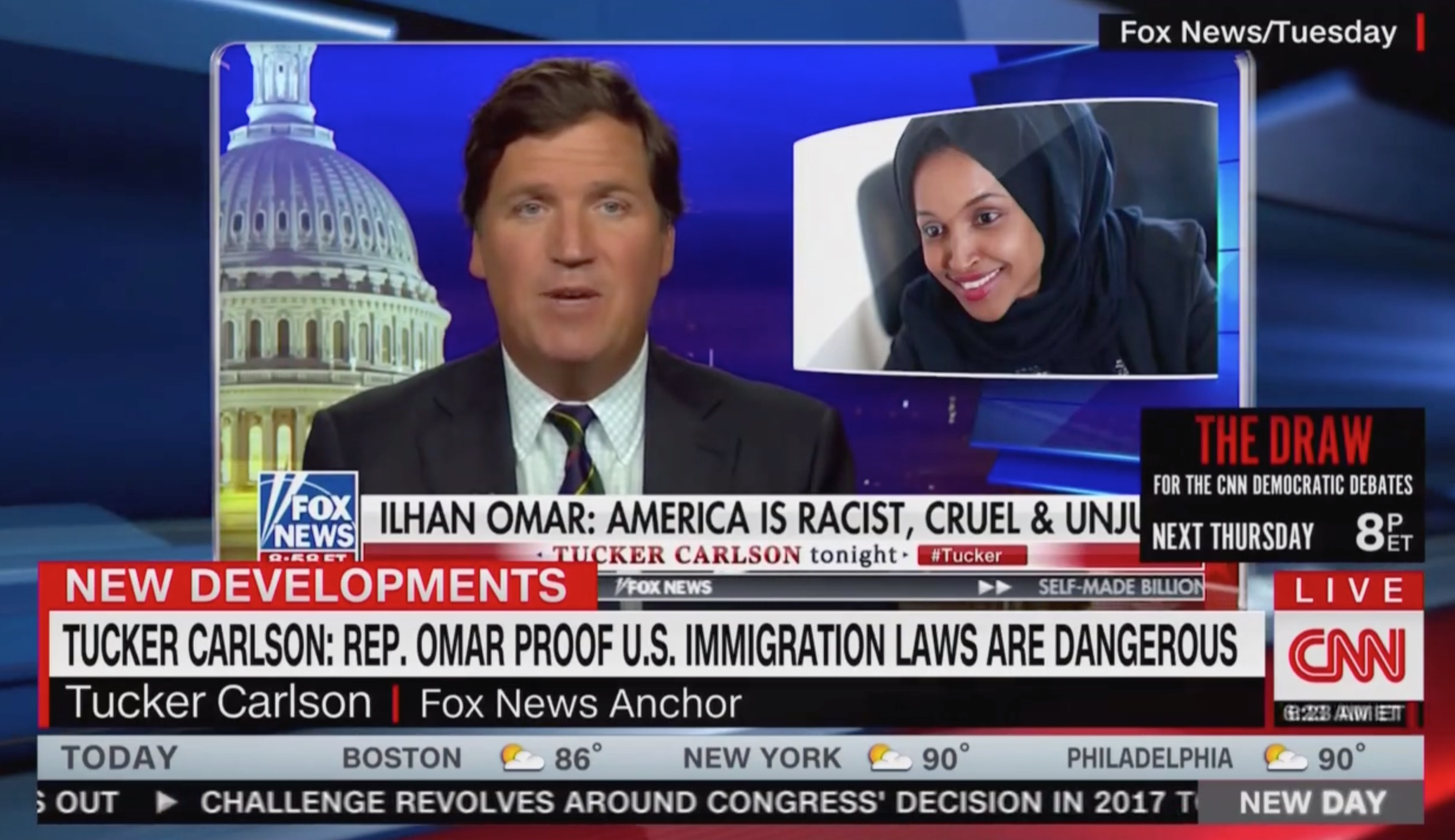 CNN New Day Blasts Tucker Carlson's 'Flat Out Racist Comment' on Ilhan Omar: 'Garbage'