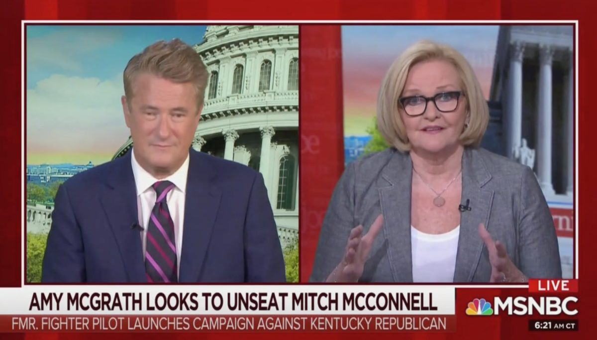 Claire McCaskill: Mitch McConnell is 'Really Worried' About Challenger Amy McGrath