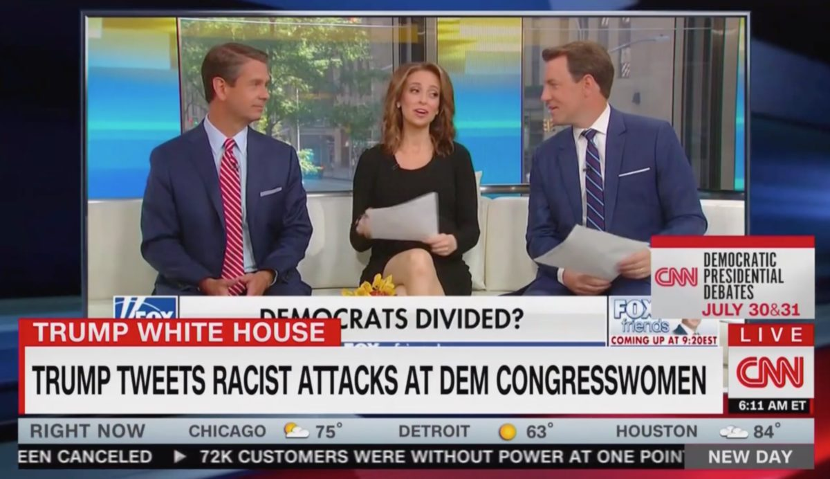 CNN New Day Calls Out Fox & Friends' Reaction to Trump's Racist Tweets: 'All Fun and Games'