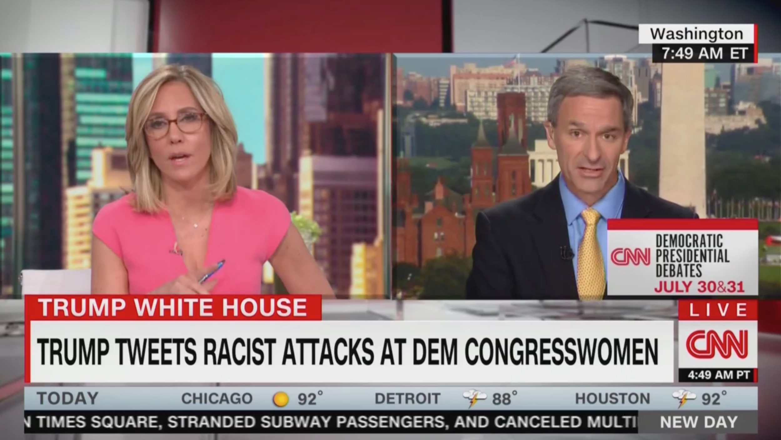 Ken Cuccinelli Answers 'So What?' When Grilled by CNN's Camerota Over Trump's Racist Tweets