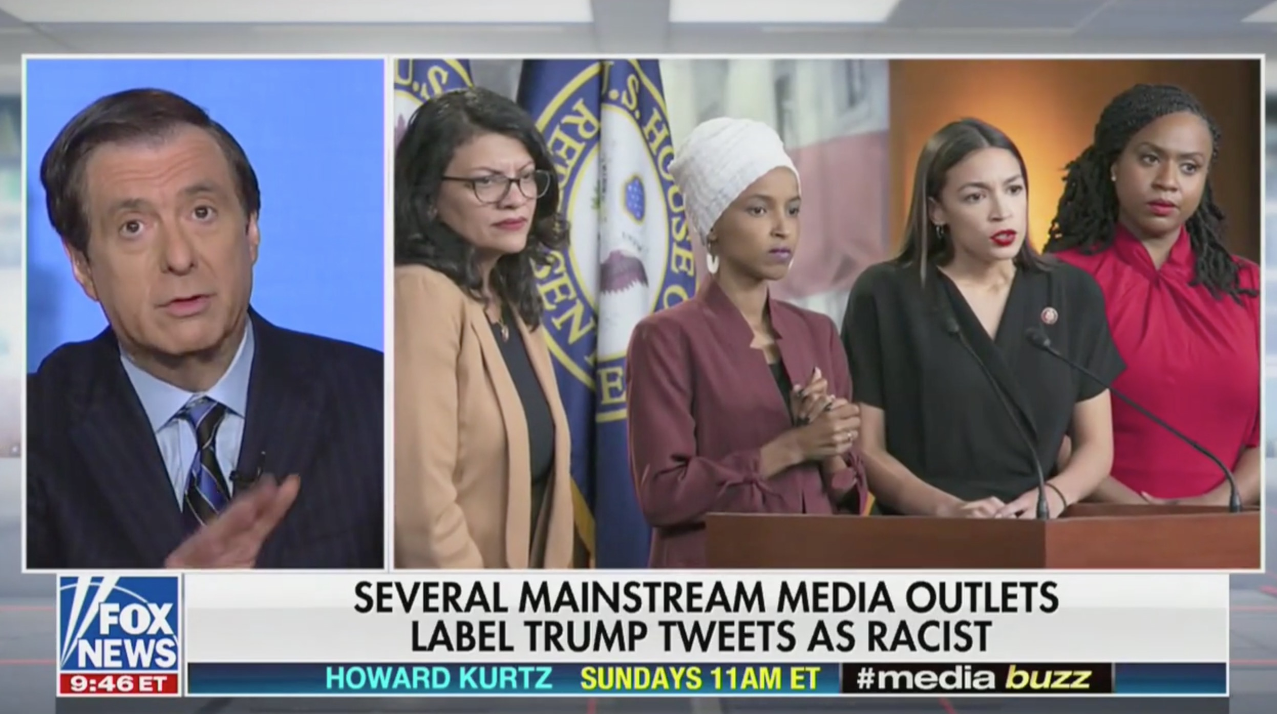 Fox's Howard Kurtz Criticizes Media For Labeling Trump's Tweets Racist: News Orgs 'Need to Be More Cautious'