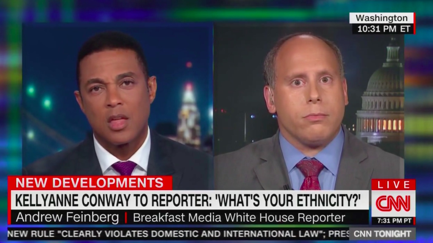 WH Reporter Responds to Kellyanne Conway Asking About His Ethnicity: 'A Little Weirder Than Normal'