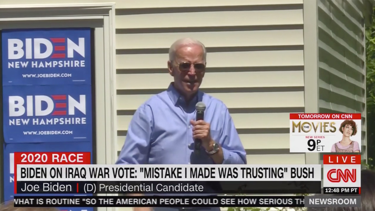 Joe Biden Addresses Iraq War Vote