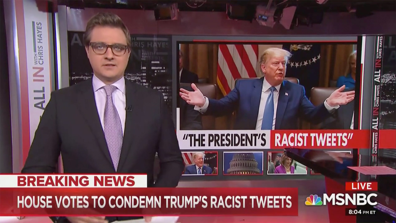 Chris Hayes: If Anyone Basically Echoed Trump's Racist Remarks in the Workplace, 'We Would Expect Repercussions'