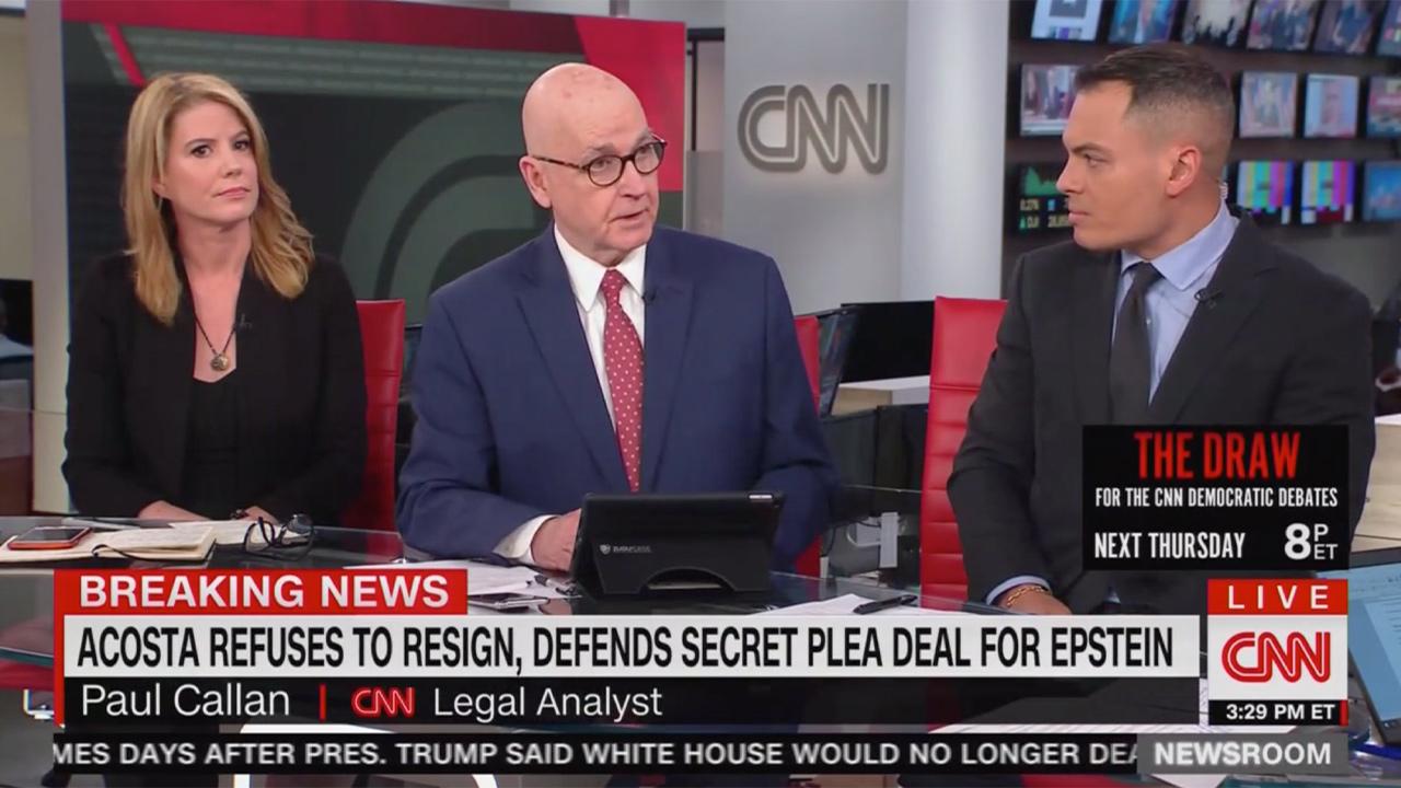 CNN Panel Blasts Acosta's Epstein Presser: 'Demonstrated Colossal Prosecutorial Irresponsibility'