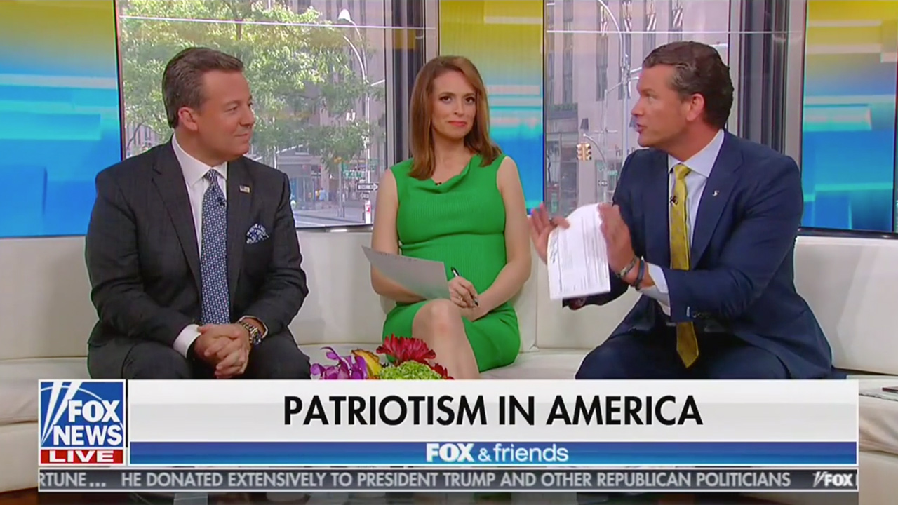 Fox & Friends Hosts Rip Coverage of Trump 4th of July Speech: The Hatred Has Exposed 'Anti-American Core of the Modern Left'
