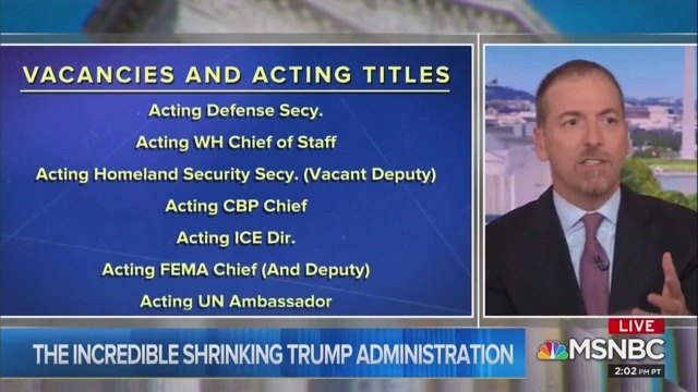 Chuck Todd Incredulous At Number of Vacancies in Gov't Leadership: 'Carousel of Chaos'