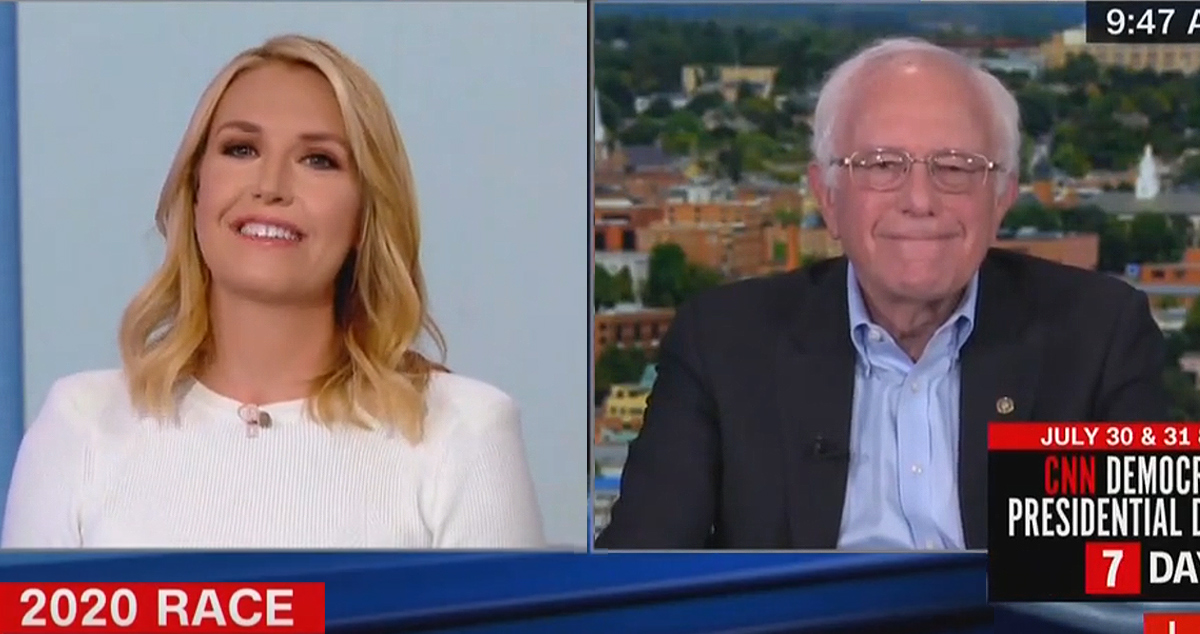 Brutal: CNN's Poppy Harlow Laughs as Bernie Sanders Can't Name a Single Thing He Admires About Elizabeth Warren