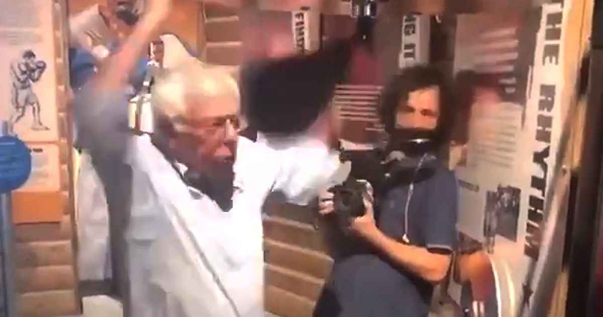 Twitter Goes Wild With Video of Bernie Hitting a Speed Bag — and the B