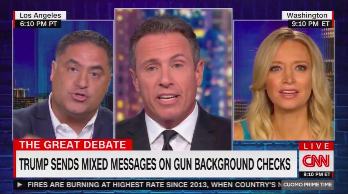 Cenk Uygur Unleashes on Trump Campaign Spox Over Trump's Flip-Flops on Gun Control: 'He's Corrupt!'