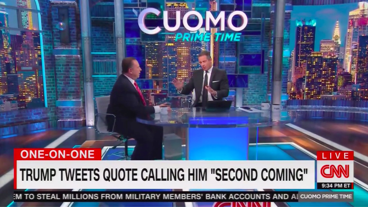 Chris Cuomo Repeatedly Calls Out Newsmax CEO for Defending Far Right Conspiracist, Wayne Allyn Root, Tweeted by Trump: 'He's a Birther!'