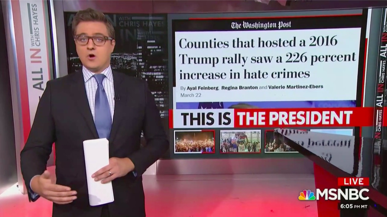 Chris Hayes Blasts 'Well of Evil' That Fuels Trump's 'Dark Sorcery of Racial Hatred' in Blistering Monologue