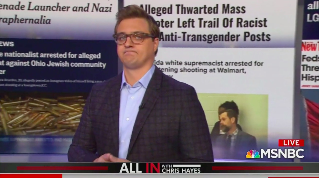 MSNBC's Chris Hayes Rails Against 'American Tradition' of White Nationalist Terrorism
