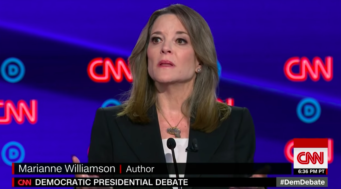 Marianne Williamson's Obsessively-Covered Debate Performance Got Her to… 0% in the Polls