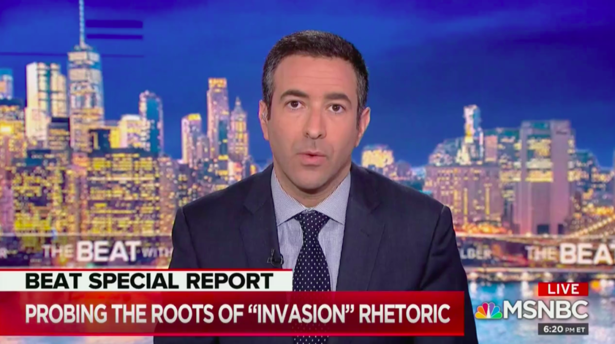 MSNBC's Ari Melber Calls Out Fox News Hosts for 'Invasion' and 'Replacement' Rhetoric on Immigration
