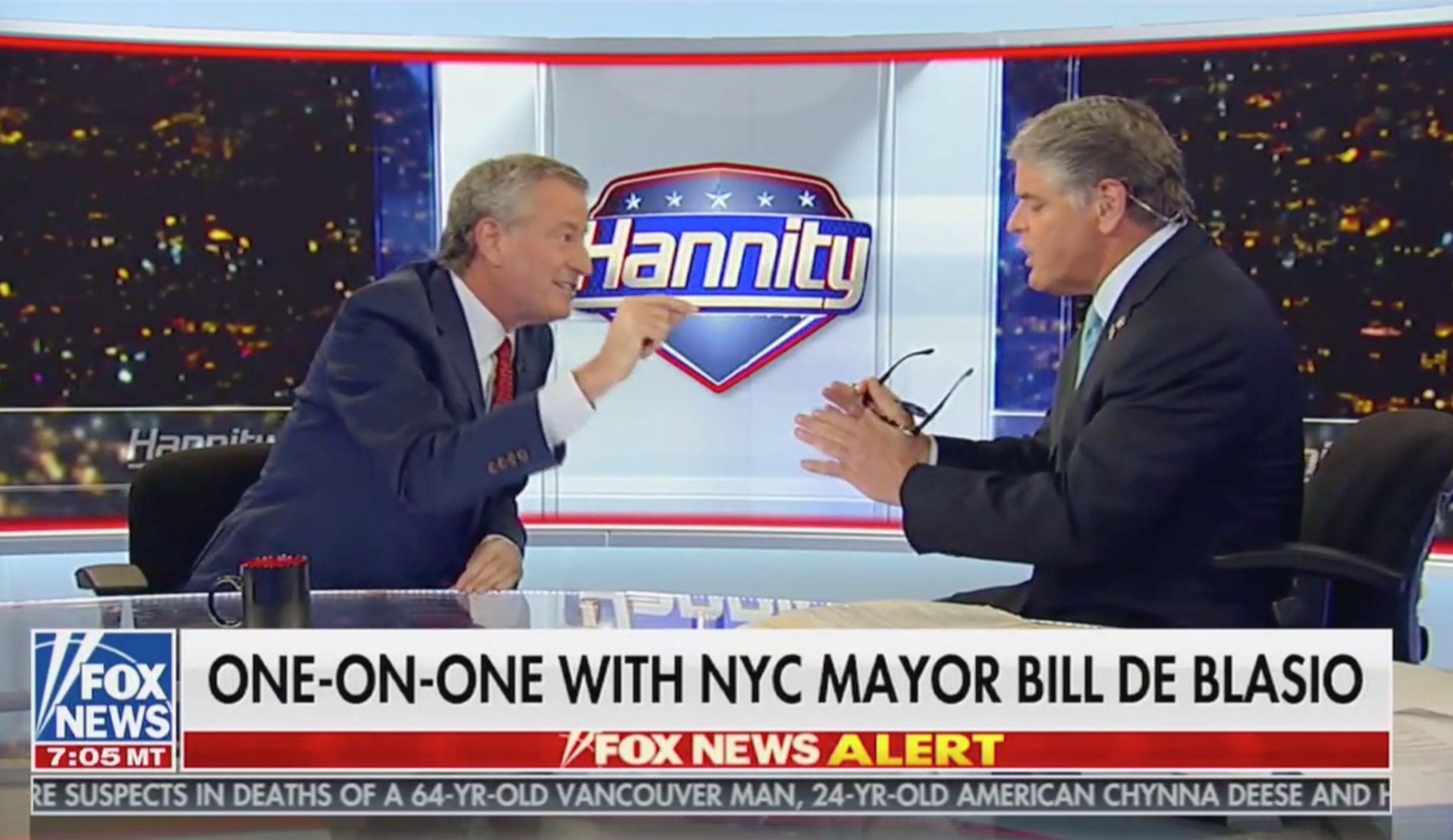 De Blasio on Hannity Shows Why Democrats Should go on Fox News