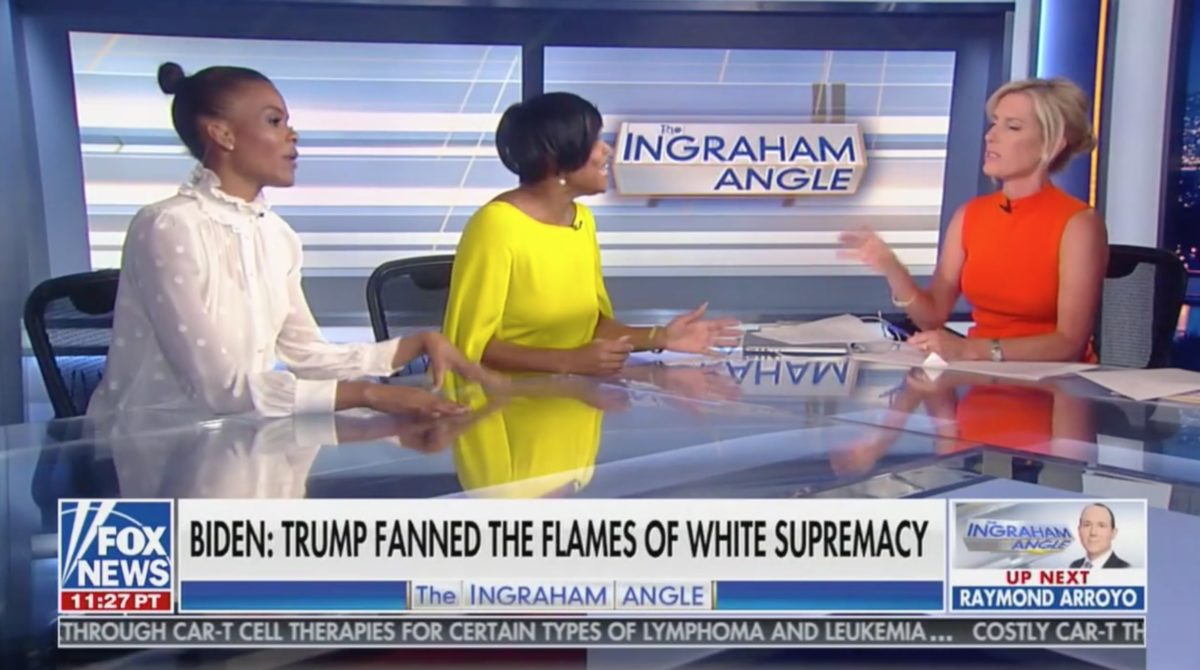 Watch a Democrat Get Screamed At by Laura Ingraham, Candace Owens For Pointing Out Trump's Racist Comments