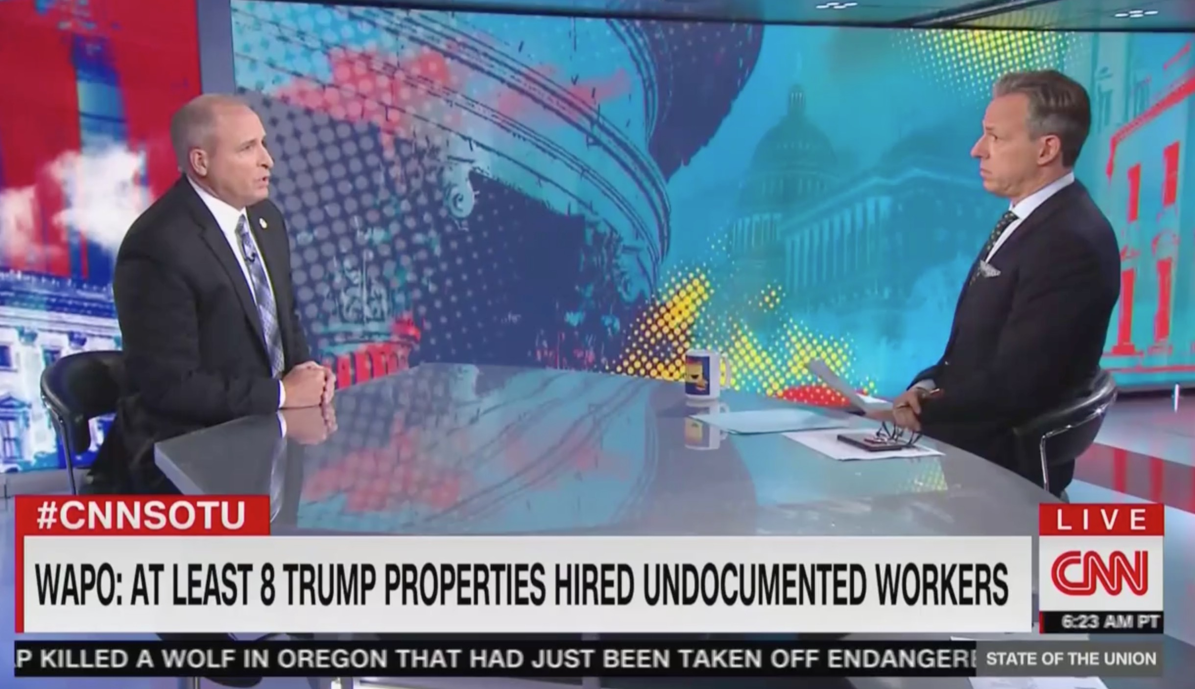 Jake Tapper Presses CBP Chief on Undocumented Workers Hired by Trump Org: Seems Like You're 'Turning a Blind Eye'